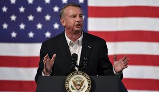 Republican gubernatorial candidate Ed Gillespie said that his Democratic opponent, Ralph Northam, favors immigration policies that will allow the violent Central American gang MS-13 to thrive throughout Virginia. (Associated Press)