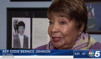 "Rep. Eddie Bernice Johnson suggested during and interview Wednesday that women have a ""responsibility"" to help prevent themselves from being sexually assaulted by not by dressing or behaving provocatively. (NBC DFW)"
