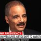 Former U.S. Attorney General Eric Holder speaks with CNN's Jake Tapper on Oct. 18, 2017. (Image: CNN screenshot)