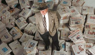 Washington Times Editor in Chief Wesley Pruden. (Maya Alleruzzo / The Washington Times) ** FILE **