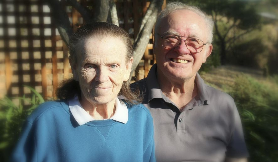 This undated photo provided by their son, Tim Halbur, shows Leroy Halbur, 80, and his wife, Donna Halbur, 80. The couple were unable to leave their Santa Rosa, Calif., home when a wildfire destroyed it early Monday, Oct. 9, 2017. Donna Halbur's body was found in a car in their garage, and Leyor Halbur was found in the driveway, their son said. (Courtesy Tim Halbur via AP)