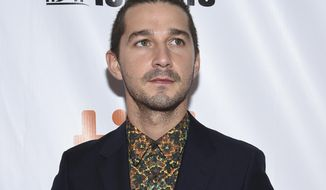 "In this Sept. 7, 2017 file photo, Shia LaBeouf attends the opening night gala for ""Borg/McEnroe"" at the Toronto International Film Festival in Toronto. (Photo by Evan Agostini/Invision/AP, File)"
