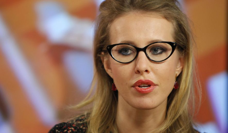 Ksenia Sobchak, a onetime Playboy pinup and reality TV star turned government critic, is out to shake up Russia's presidential election. (Associated Press/File)