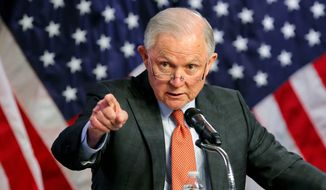 """Attorney General Jeff Sessions faces lawsuits from cities opposed to his plan to withhold public safety grants from """"sanctuary"""" cities. (Associated Press/File)"""