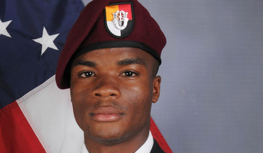 Sgt. La David Johnson was killed in on Oct. 4. President Trump's call to his widow has been insensitive by critics.
