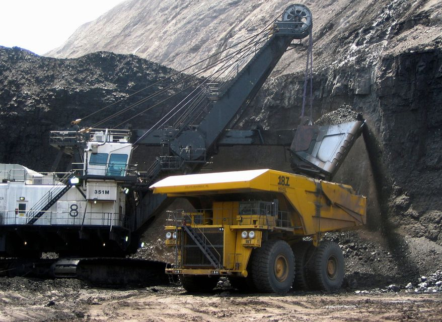 Under Trump administration policies, which are likely to spur much greater natural gas development, coal production is projected to be well under 600 million tons by 2020, according to an energy report. (Associated Press/File)