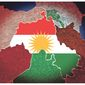 Illustration on the moral and strategic importance of an independent Kurdistan by Alexander Hunter/The Washington Times