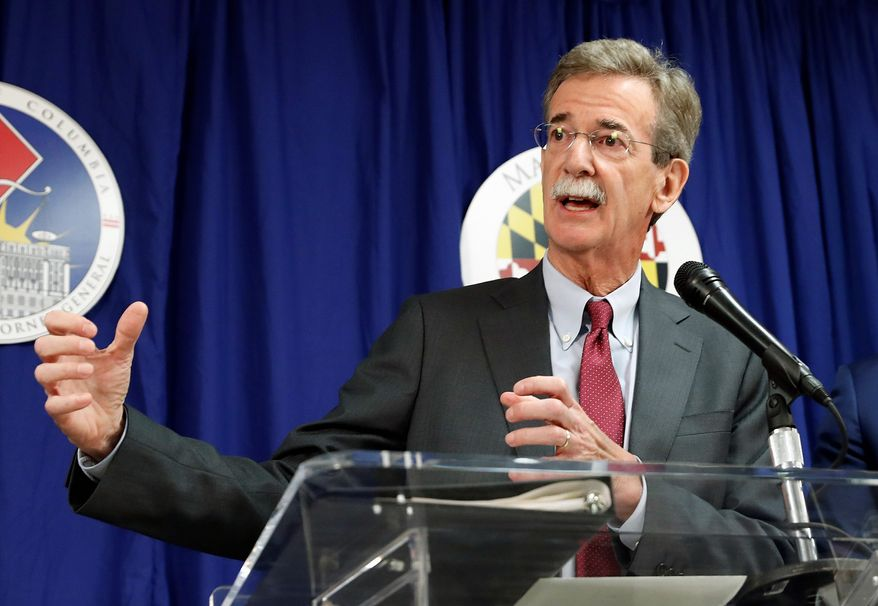 In this June 12, 2017 file photo, Maryland Attorney General Brian Frosh speaks during a news conference in Washington. (Associated Press)