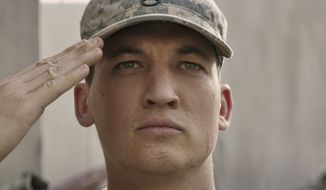 """This image released by DreamWorks Pictures shows Miles Teller in a scene from,""""Thank You for Your Service."""" The drama follows a group of U.S. soldiers returning from Iraq who struggle to integrate back into family and civilian life. (DreamWorks Pictures via AP)"""