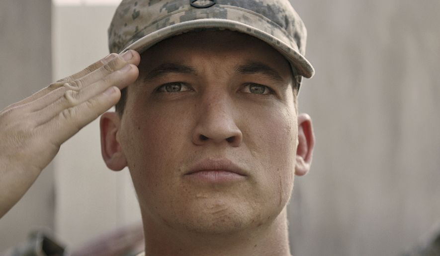 "This image released by DreamWorks Pictures shows Miles Teller in a scene from,""Thank You for Your Service."" The drama follows a group of U.S. soldiers returning from Iraq who struggle to integrate back into family and civilian life. (DreamWorks Pictures via AP)"