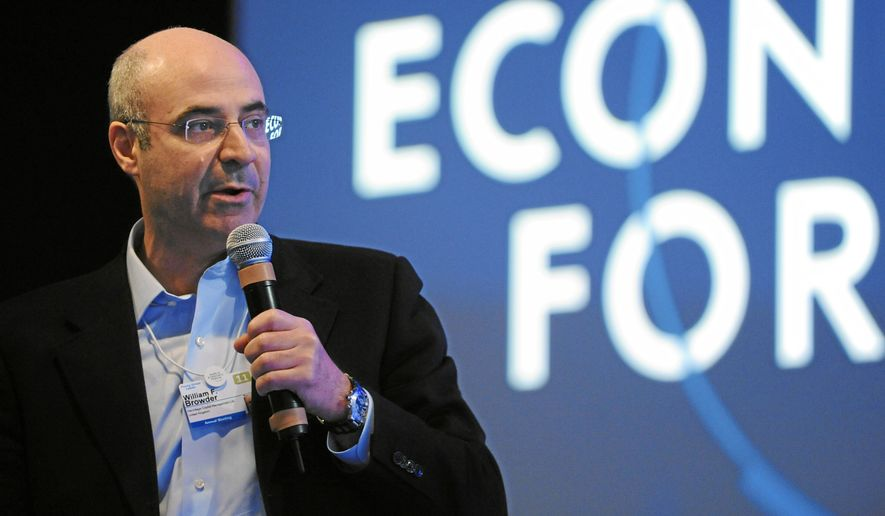 William F. Browder, Chief Executive Officer Hermitage Capital Management, asks questions during the session 'Russia's Next Steps to Modernization' at the Annual Meeting 2011 of the World Economic Forum in Davos, Switzerland, January 27, 2011. Copyright by World Economic Forum swiss-image.ch/Photo by Michael Wuertenberg