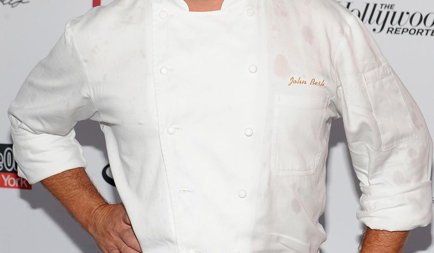 FILE - In this May 31, 2015 file photo, chef John Besh attends the Supper to benefit the Global Fund to fight AIDS in New York. Besh is stepping down from the restaurant group that bears his name after a newspaper reported that 25 current or former employees of the business said they were victims of sexual harassment. (Photo by Brad Barket/Invision/AP, File)