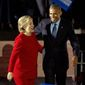 Former President Barack Obama and former Secretary of State Hillary Clinton. (Associated Press/File)