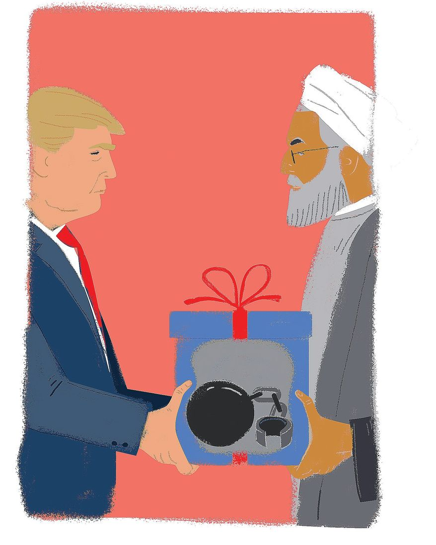 Illustration on needed action on Kurdistan by the Trump administration by Linas Garsys/The Washington Times