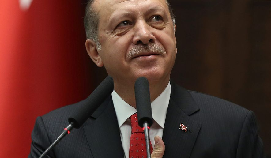 President Recep Tayyip Erdogan is threatening to halt U.S. use of Incirlik Air Base for its refusal to extradite Fethullah Gulen, whom Mr. Erdogan says was behind a failed coup. (Associated Press)
