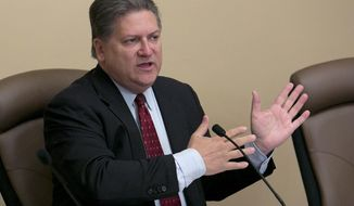 File - In this April 25, 2017, file photo, state Sen. Bob Hertzberg, D-Van Nuys, gestures during a hearing in Sacramento, Calif. California's top judge wants to do away with the state's cash bail system, which critics say keeps poor people behind bars while wealthier suspects can pay for their freedom. California Supreme Court Chief Justice Tani Cantil-Sakauye said Tuesday, Oct. 24, 2017, that the state should instead rely on risk assessments to determine whether defendants should be released. A bail reform bill was approved by the state Senate in the most recent legislative session, but its author, Sen. Hertzberg, said he would have had to make additional compromises to get it through the Assembly before the Legislature adjourned in mid-September. (AP Photo/Rich Pedroncelli, File)