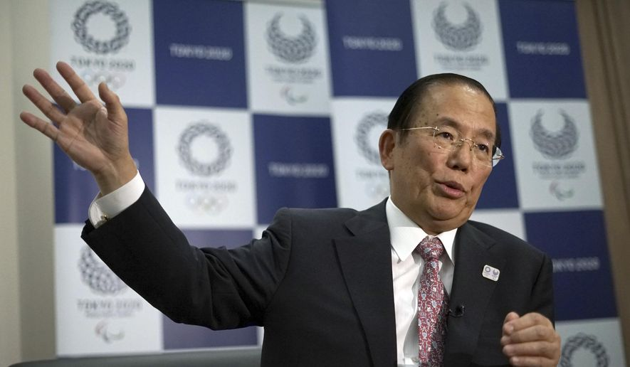 Tokyo Organizing Committee CEO of the 2020 Olympics Toshiro Muto speaks during an interview with the Associated Press in Tokyo Tuesday, Oct. 24, 2017. The top Tokyo Olympic organizer has pledged to keep water clean and safe at marathon swimming and triathlon venue where E. coli bacterial contamination has been detected during the summer, saying they are implementing measures that are showing improvement. (AP Photo/Eugene Hoshiko)
