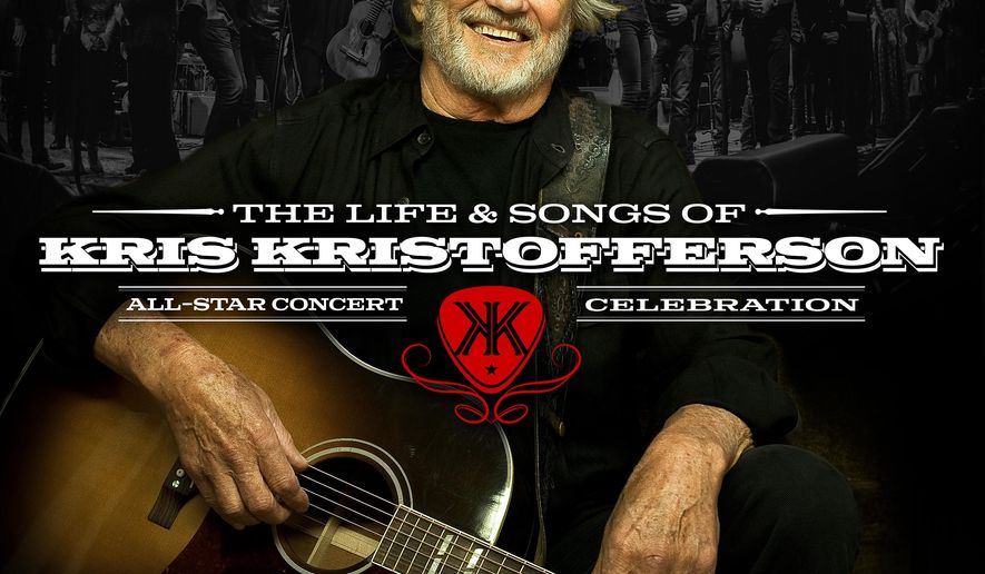 "This cover image released by Blackbird Presents Records shows ""The Life & Songs of Kris Kristofferson"" performed by various artists, including Willie Nelson, Emmylou Harris, Rodney Crowell and Lady Antebellum. (Blackbird Presents Records via AP)"