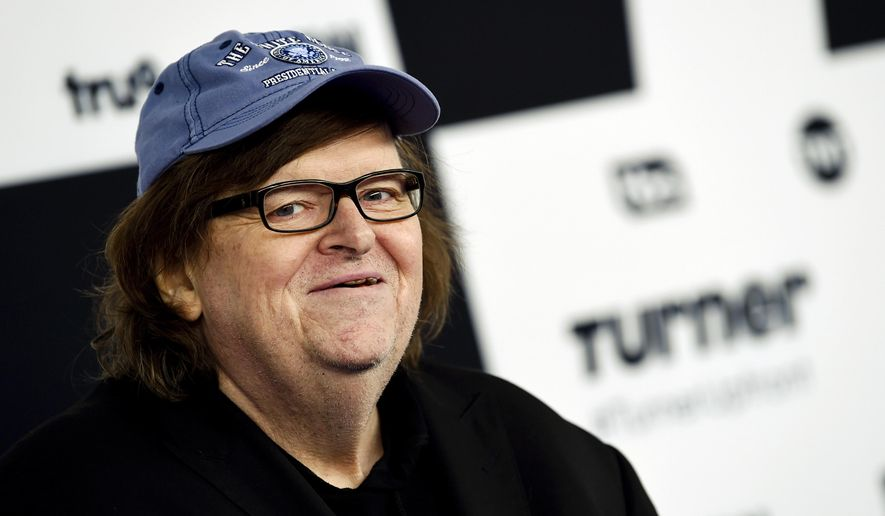 In this May 17, 2017, file photo, filmmaker Michael Moore attends the Turner Network 2017 Upfront presentation in New York. (Photo by Evan Agostini/Invision/AP, File)