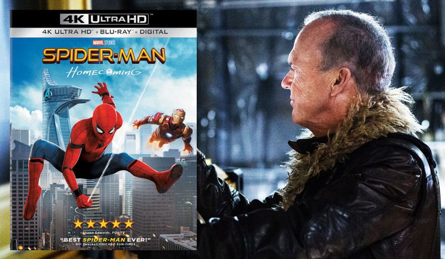 "Michael Keaton co-stars as the Vulture in ""Spider-Man: Homecoming,"" now available on 4K Ultra HD from Sony Pictures Home Entertainment."