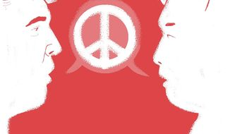 North Korea talks by Linas Garsys/The Washington Times