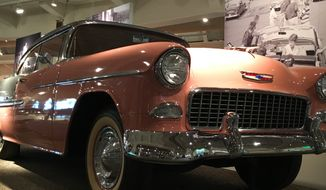 A '57 Chevy is just one of the prizes on display at the Henry Ford Museum of American Innovation in Dearborn, Michigan.  (Eric Althoff/The Washington Times)