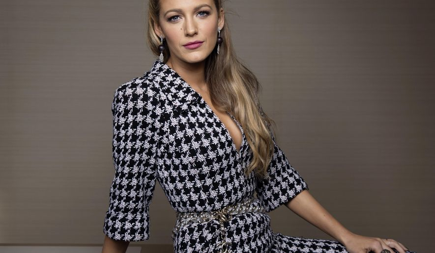 "In this Oct. 16, 2017 file photo, Blake Lively poses for a portrait in New York to promote her latest film, ""All I See Is You,"" where she plays a blind woman who regains her sight. (Photo by Taylor Jewell/Invision/AP)"