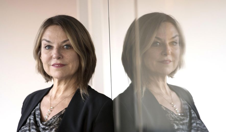 """Author Esther Perel author of """"The State of Affairs: Rethinking Infidelity"""" is photographed at the the Associated Press offices in Washington, Tuesday, Oct. 17, 2017.  In an interview with the Associated Press, Perel talks about the roots of infidelity, ways of coping with it and the secrets to maintaining erotic desire in a long-term relationship. (AP Photo/Carolyn Kaster)"""