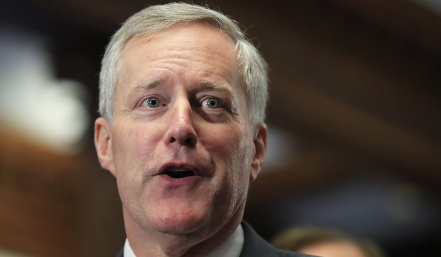 Rep. Mark Meadows is a North Carolina Republican and leader of the hard-line House Freedom Caucus. (Associated Press/File)