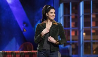 "This image released by Hulu shows Sarah Silverman from her Hulu series, ""I Love You, America,"" in Los Angeles. In the latest episode on Thursday, Oct. 26, Silverman welcomes guests Tig Notaro and Sen. Al Franken. (Erin Simkin/Hulu via AP)"
