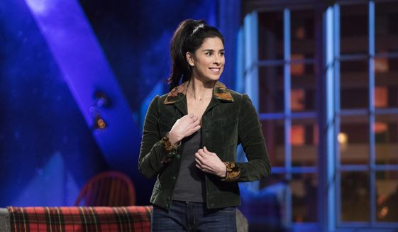 """This image released by Hulu shows Sarah Silverman from her Hulu series, """"I Love You, America,"""" in Los Angeles. In the latest episode on Thursday, Oct. 26, Silverman welcomes guests Tig Notaro and Sen. Al Franken. (Erin Simkin/Hulu via AP)"""