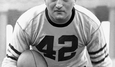 Sid Luckman was a quarterback for the Chicago Bears from 1939 through 1950. During his twelve seasons with the Bears he led them to four NFL championships. He played both baseball and football for Erasmus Hall High School, with his football skills impressing recruiters from about 40 colleges. Luckman chose Columbia University after meeting Lions coach Lou Little during a Columbia/Navy game at the university's Baker Field athletic facility. Luckman was not admitted to Columbia College; instead, he attended the New College for the Education of Teachers, an undergraduate school, which was within Teachers College at Columbia. He competed on the football team from 1936 until the New College closed in 1939, when he transferred to Columbia College.  At Columbia Luckman was a member of the Zeta Beta Tau fraternity. He completed 180 of 376 passes for 2,413 yards and 20 touchdowns and finished third in the 1938 Heisman Trophy voting, behind Davey O'Brien and Marshall Goldberg. Luckman was inducted into the Pro Football Hall of Fame in 1965, and in 1988 he was declared a joint winner of the Walter Camp Distinguished American Award.