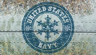 Navy Snowflakes Illustration by Greg Groesch/The Washington Times