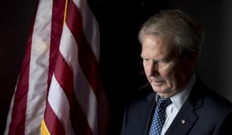 In this Oct. 25, 2017, photo, Rep. Walter Jones, R-N.C. poses for a portrait in his office on Capitol Hill in Washington. (AP Photo/Andrew Harnik) **FILE**