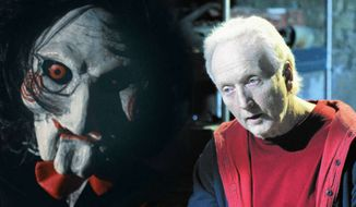 "Tobin Bell's character is up to his old tricks in the ""Saw"" sequel ""Jigsaw.""  (Comic Book)"