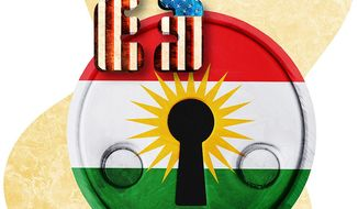The Key to Kurdish Independence Illustration by Greg Groesch/The Washington Times