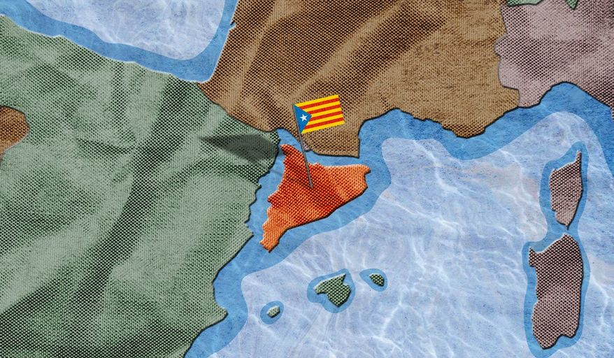The Split of Catalonia Illustration by Greg Groesch/The Washington Times