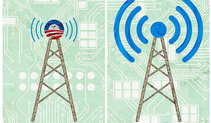 Removing Obama Regulation from Broadband Illustration by Greg Groesch/The Washington Times