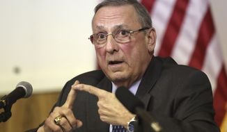 In this March 8, 2017 file photo, Maine Gov. Paul LePage speaks at a town hall meeting in Yarmouth, Maine. (AP Photo/Robert F. Bukaty, File)