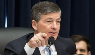 In this March 22, 2016, file photo Rep. Jeb Hensarling, R-Texas, speaks on Capitol Hill in Washington. (AP Photo/Jacquelyn Martin, File)