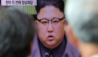 North Korean leader Kim Jong-un, shown here on state television, is not fully aware of the U.S. military might, a high-level defector says. (Associated Press/File)