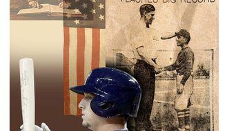 Illustration on Alex Bregman's great-grandfather, Bo Bregman, and the heritage behind Alex's baseball career by Alexander Hunter/The Washington Times