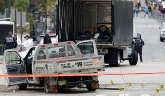 Uzbek immigrant Sayfullo Saipov is accused of using a rented truck to plow down people on a New York bike path Tuesday afternoon. (Associated Press)