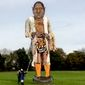Members of The Edenbridge Bonfire Society erect a 36-foot-tall effigy of disgraced movie producer Harvey Weinstein, which they will torch on Nov. 4, 2017, during a charity event. (Image: Facebook, Edenbridge Bonfire Society)