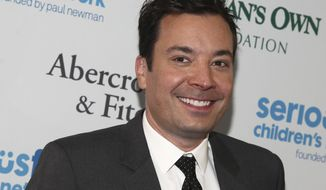 FILE - In this May 23, 2017 file photo, Jimmy Fallon attends the SeriousFun Children's Network Gala at Pier Sixty in New York. Smokey Robinson, Fallon, The Roots, Common and Day will be among the stars celebrating at the upcoming Macy's Thanksgiving Day Parade in New York City. Macy's said Wednesday, Nov. 1, 2017, that Tony winner Leslie Odom Jr., 98 Degrees, Flo Rida, Wyclef Jean and Miss America Cara Mund also will participate in the 91st annual parade on Nov. 23. (Photo by Andy Kropa/Invision/AP, File)