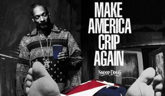 "Snoop Dogg is pictured standing over President Trump's dead body on the cover of his new EP titled, ""Make America Crip Again."" (Instagram/@snoopdogg)"