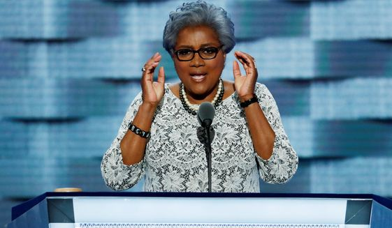 Democratic National Committee Vice Chair Donna Brazile speaks during the second day of the Democratic National Convention in Philadelphia, Tuesday, July 26, 2016. (AP Photo/J. Scott Applewhite) ** FILE **