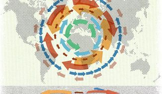 Interference in Global Trade Illustration by Greg Groesch/The Washington Times