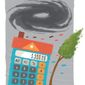 Illustration on tax reform helping with disaster recovery by Linas Garsys/The Washington Times
