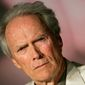 "American director Clint Eastwood is seen at the press conference for the film ""Changeling"" during the 61st International film festival in Cannes, southern France, on Tuesday, May 20, 2008.  (AP Photo/Francois Mori)"